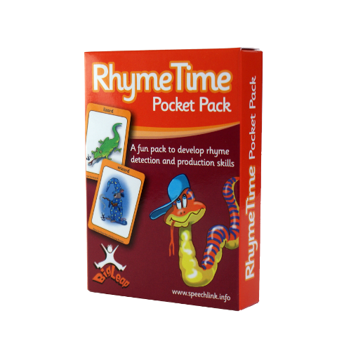 Front of a pack of cards called Rhyme Time