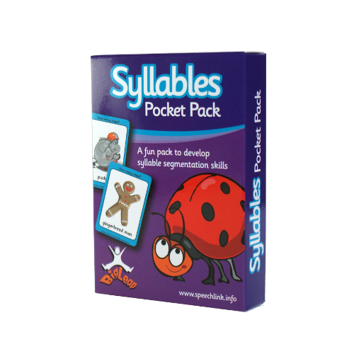 Front of a pack of cards called Syllables